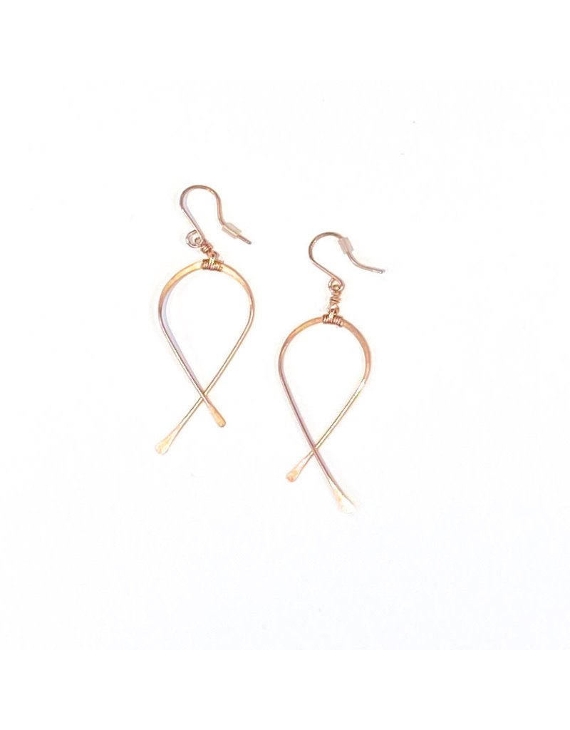 Linda Trent Rose Gold Filled Medium Criss Cross Earrings