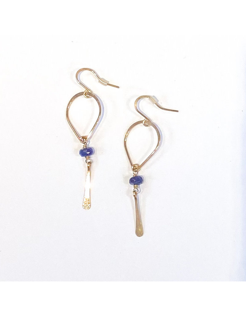 Linda Trent 14K Gold Filled Sapphire Teardrop Earring