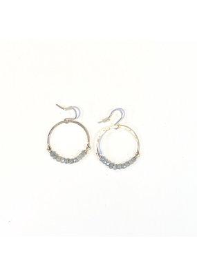 Linda Trent Sterling Silver Silverite Hoop Earring