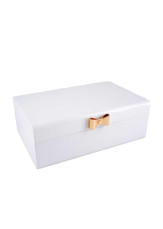 Perri Bleu Ettie White Lacquer Jewelry Box Large