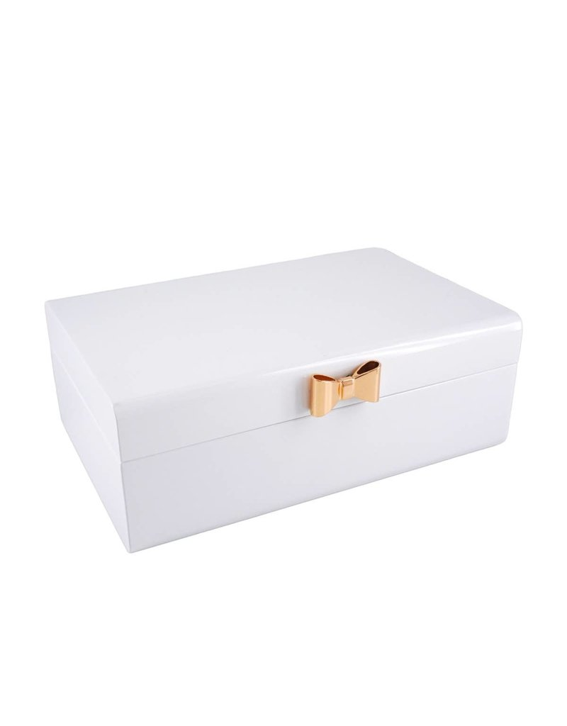 Perri Bleu Ettie White Lacquer Jewelry Box Large