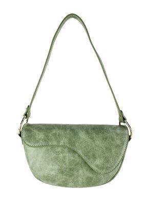 Street Level Handbags Matcha Shoulder Bag w Abstract Flap