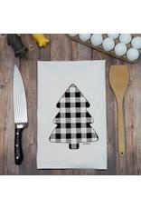 Green Bee Tea Towels Buffalo Check Pine Tree Tea Towel