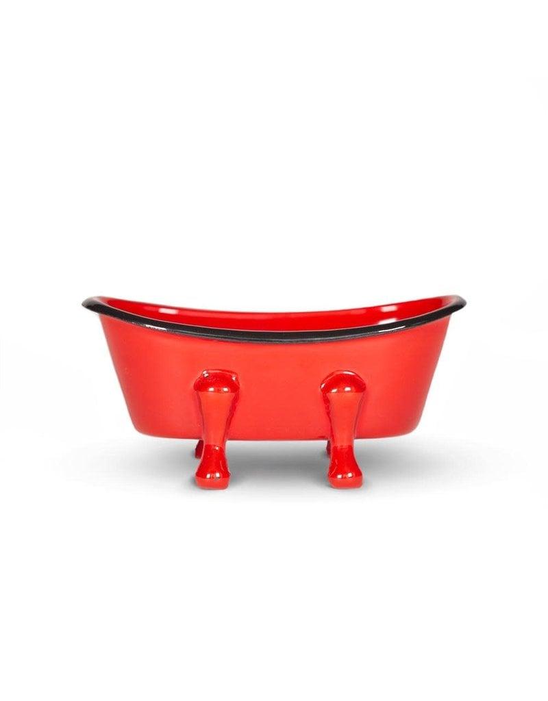 FinchBerry Farmhouse Red Metal Bathtub Soap Dish