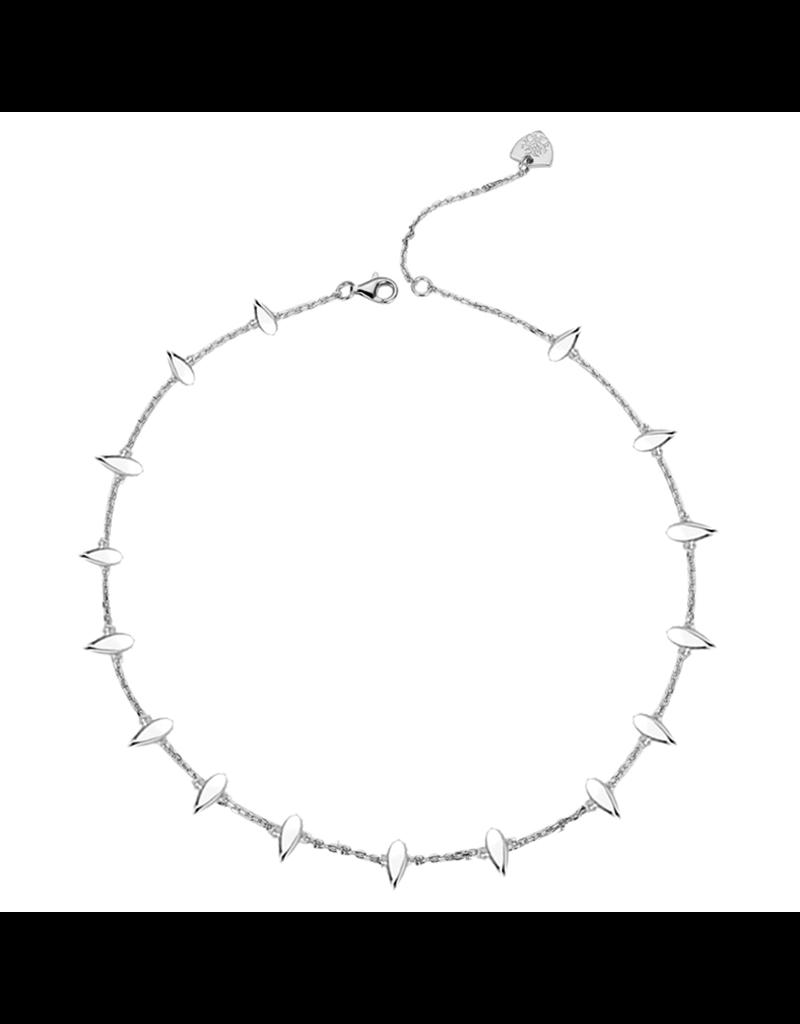 Natalie Wood Designs Choose Happy Mini Necklace Rhodium Plated