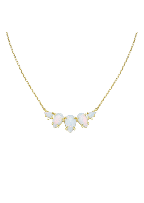 Natalie Wood Designs Daydreamer Necklace White Opal