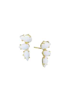 Natalie Wood Designs Daydreamer Studs w White Opal