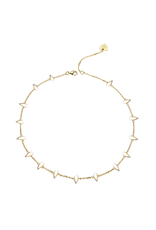 Natalie Wood Designs Choose Happy Mini Necklace 14k Gold Plated