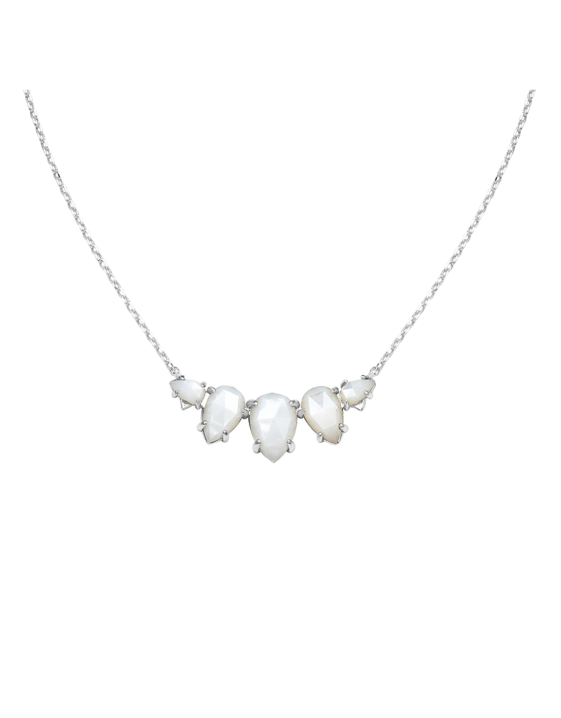 Natalie Wood Designs Daydreamer Necklace White Pearl Rhodium Plated