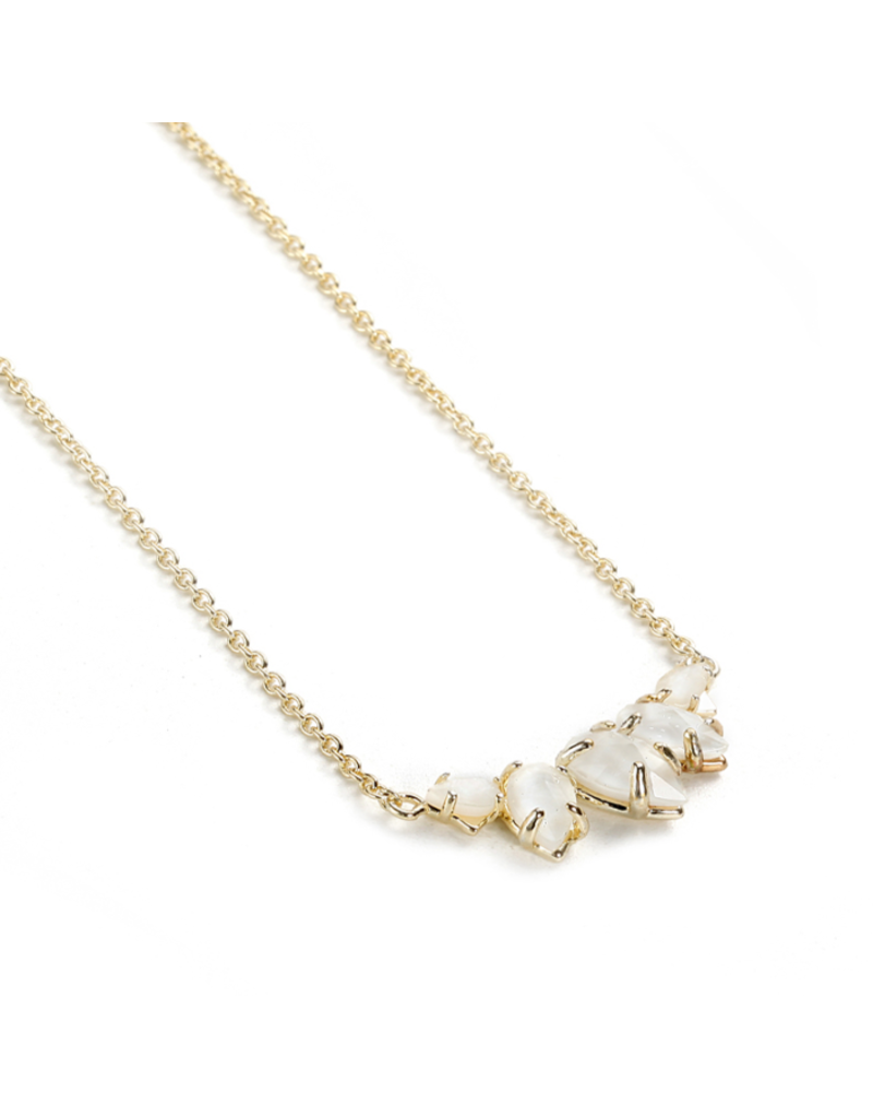 Natalie Wood Designs Daydreamer Necklace White Pearl 14k Gold Plated