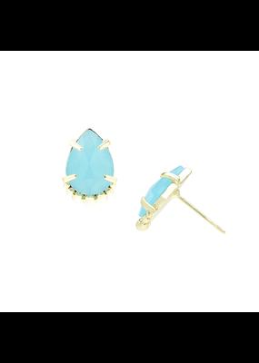 Natalie Wood Designs She's a Gem Teardrop Stud Blue Chalcedony