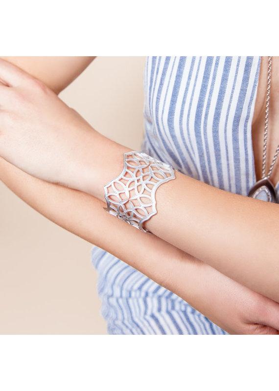 Natalie Wood Designs Believer Cuff Bracelet Rhodium Plated