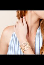 Natalie Wood Designs Believer Cuff Bracelet 14k Gold Plated
