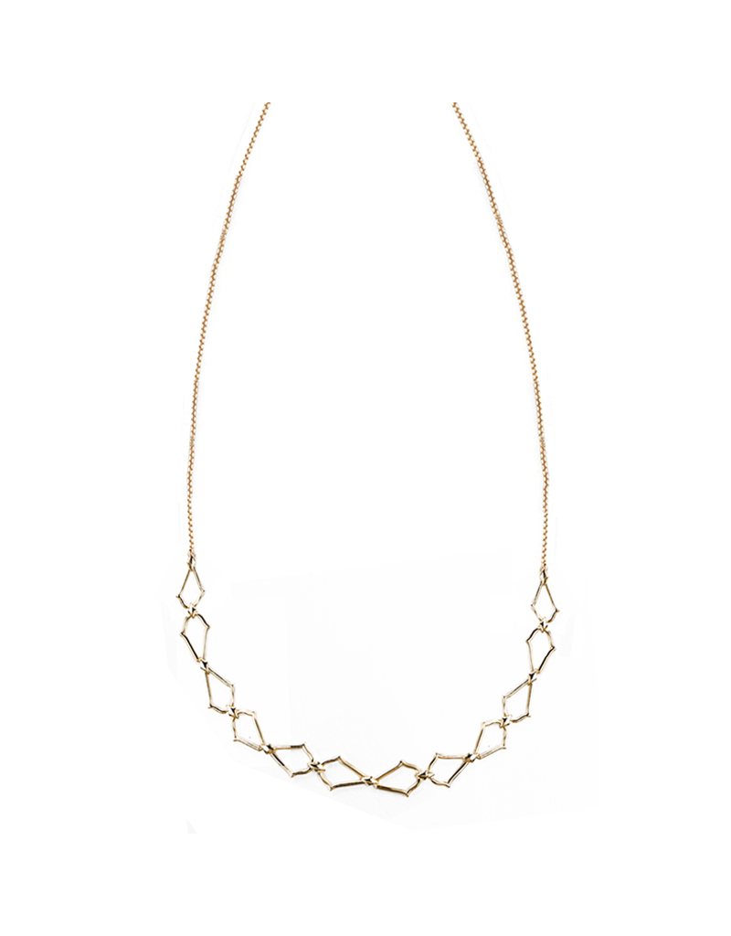 Natalie Wood Designs Southern Charm Necklace 14k Gold Plated