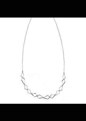 Natalie Wood Designs Southern Charm Necklace Rhodium Plated