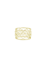 Natalie Wood Designs Believer Ring SZ 8 14k Gold Plated