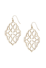 Natalie Wood Designs Believer Large Drop Earrings 14k Gold Plated