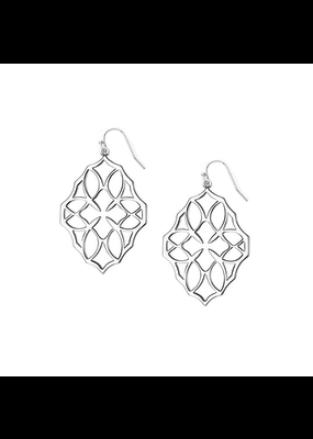 Natalie Wood Designs Believer Small Drop Earrings Rhodium Plated