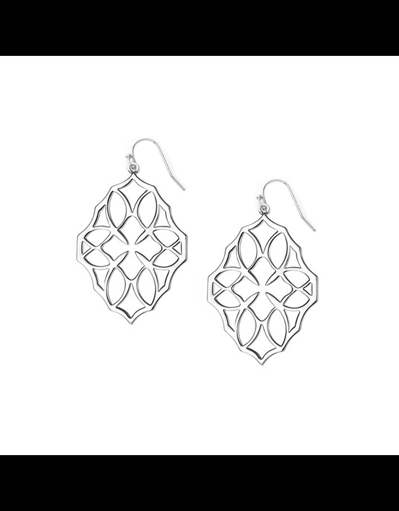 Natalie Wood Designs Believer Small Drop Earrings Rhodium Plated