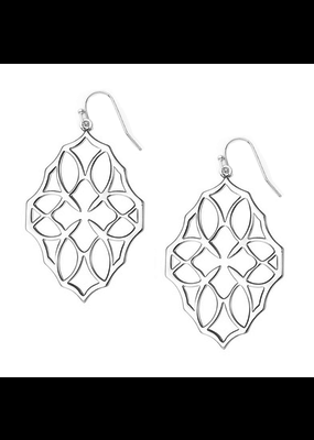 Natalie Wood Designs Believer Large Drop Earrings Rhodium Plated