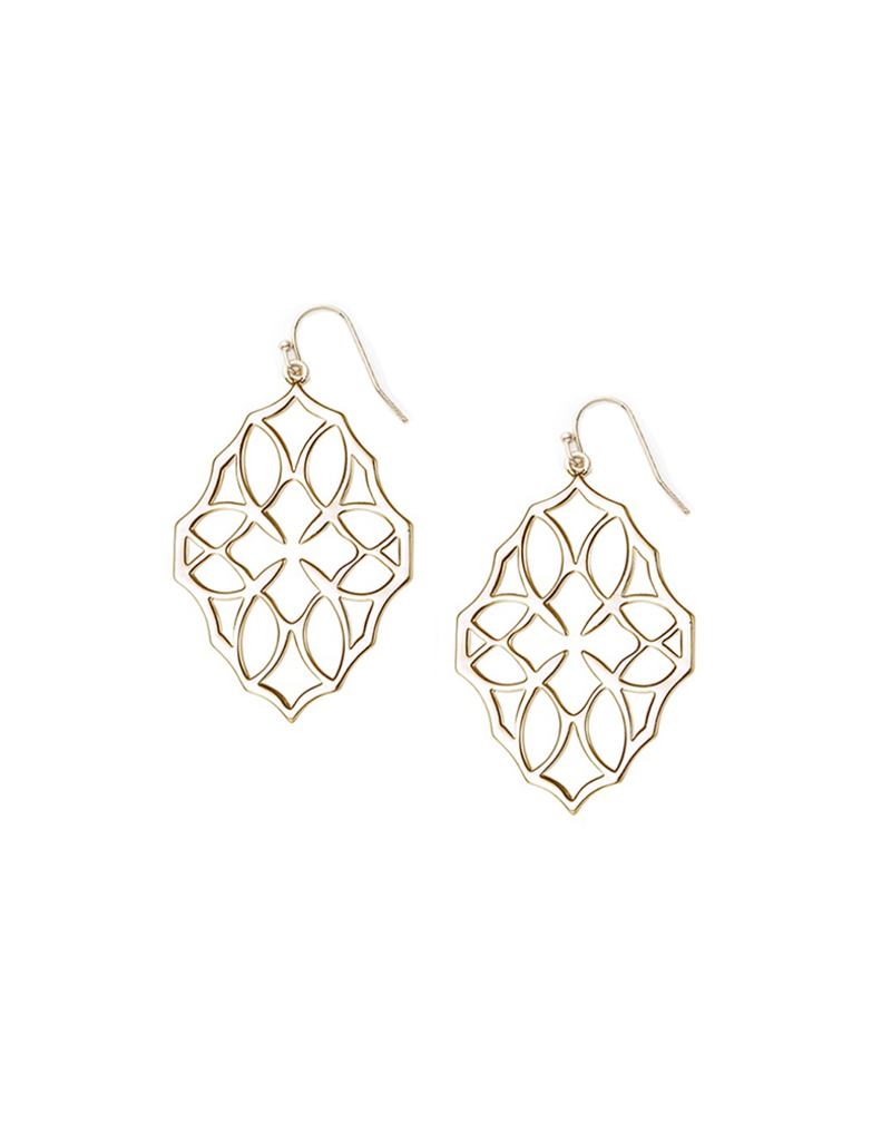 Natalie Wood Designs Believer Small Drop Earrings 14k Gold Plated