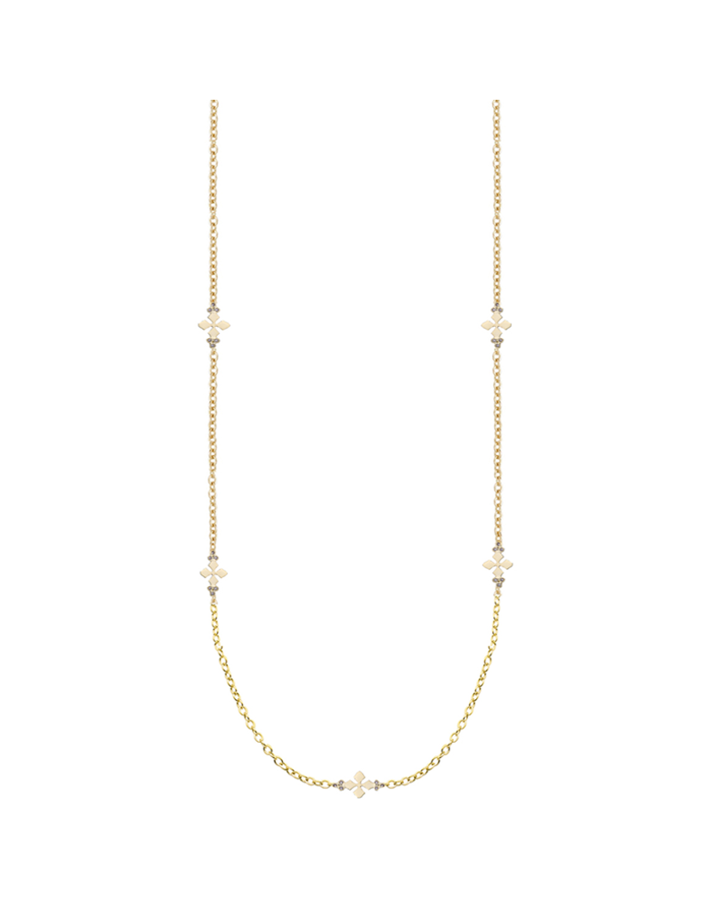 Natalie Wood Designs Believer Cross Station Necklace 14k Plated