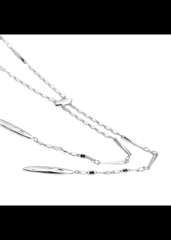 Natalie Wood Designs Just Dance Necklace Rhodium Plated