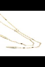 Natalie Wood Designs Just dance Necklace 14k Gold Plated