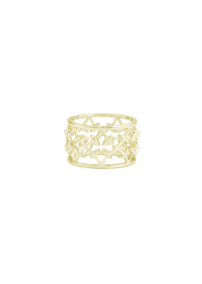 Natalie Wood Designs Believer Ring SZ7 14k Gold Plated