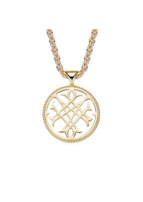 Natalie Wood Designs Logo Pendant Necklace 14k Gold Plated