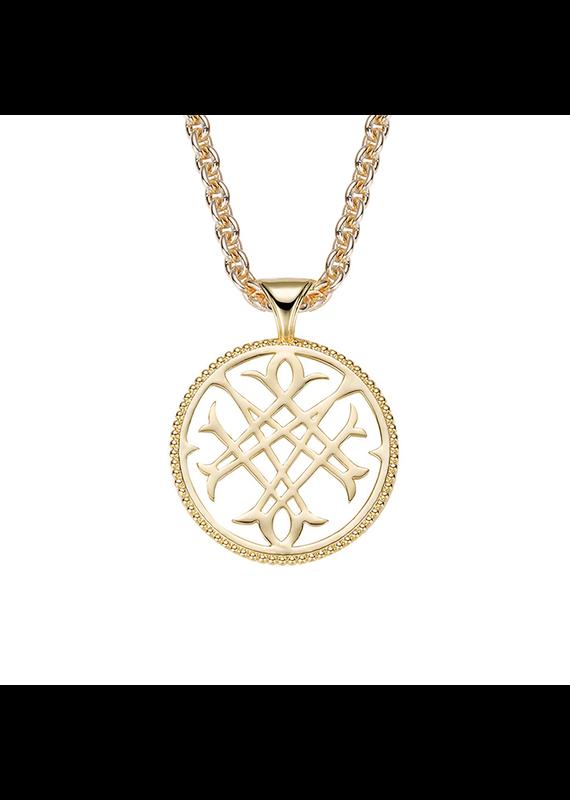 Natalie Wood Designs Logo Pendant Necklace 14k Gold Plated