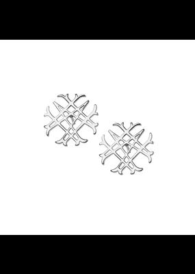 Natalie Wood Designs Logo Stud Rhodium Plated