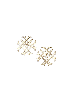 Natalie Wood Designs Logo Stud 14k Gold Plated