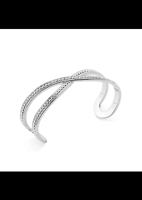 Natalie Wood Designs Beaded Cuff Rhodium Plated