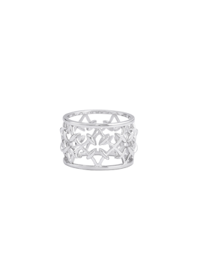 Natalie Wood Designs Believer Ring SZ8 Rhodium Plated