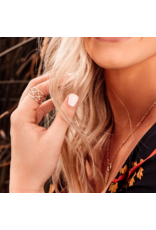 Natalie Wood Designs Believer Ring SZ8 Rhodium Plated