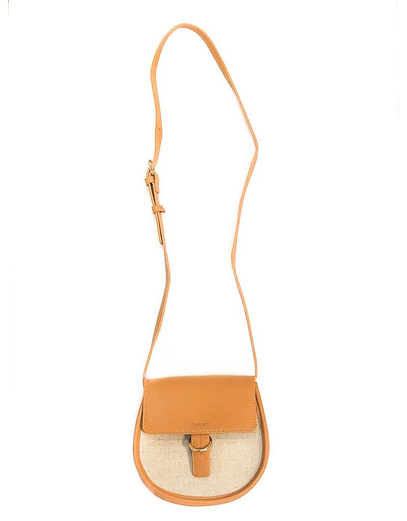 Street Level Handbags Nude Small Front Flap Saddle Crossbody