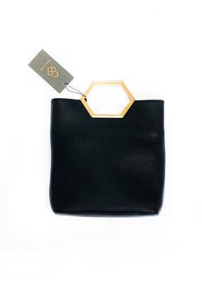 Street Level Handbags Black Hexagon Handle Bag