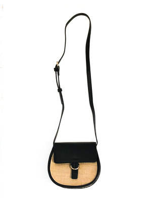 Street Level Handbags Black Small Front Flap Saddle Crossbody