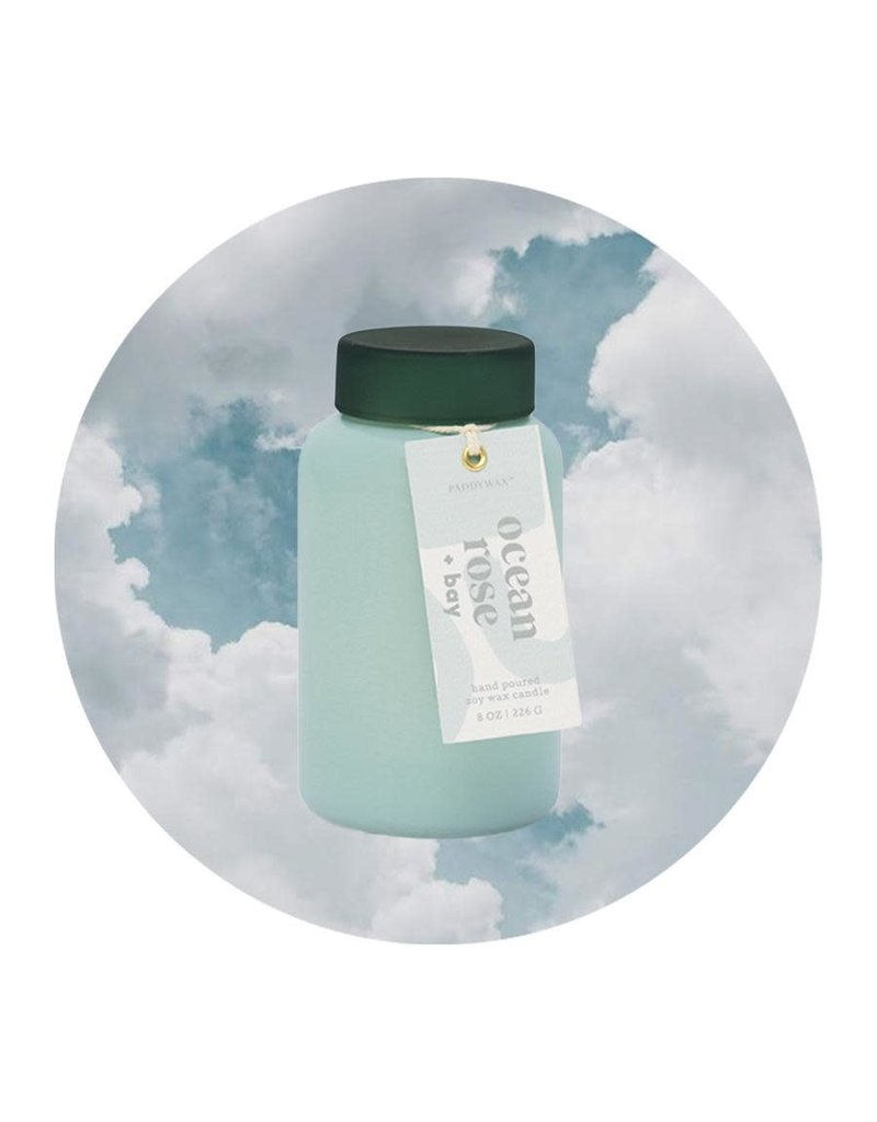 Paddywax Lolli Ocean Rose + Bay 8 oz Candle