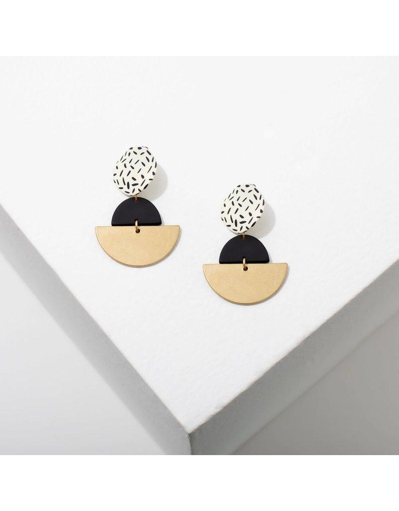 Larissa Loden Kiki White Earrings