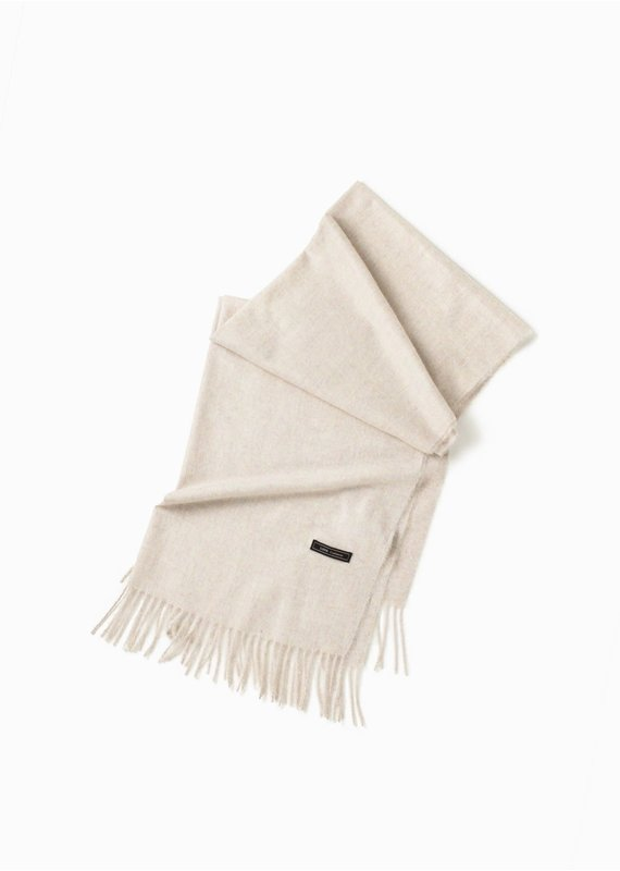 Look By M Soft Noise Grain Ivory Scarf