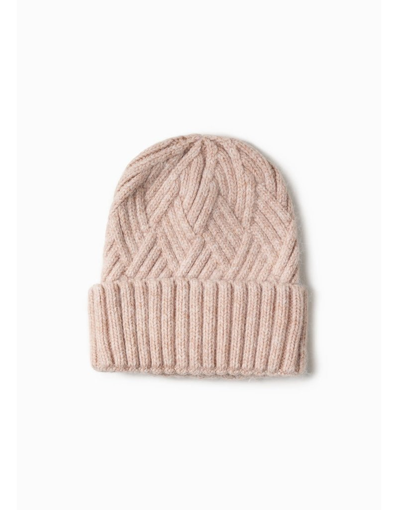 Look By M Chevy Woven Blush Beanie
