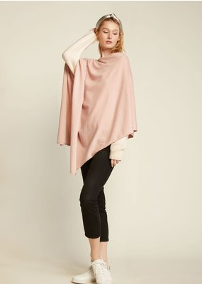 Look By M Basic Pink Triangle Poncho