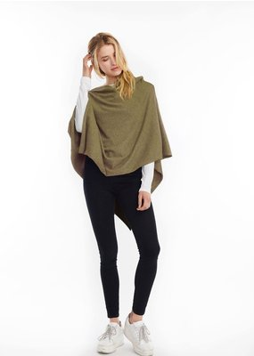 Look By M Basic Moss Triangle Poncho