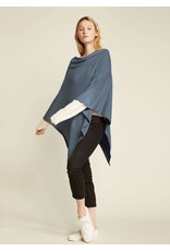 Look By M Basic Purist Blue Triangle Poncho