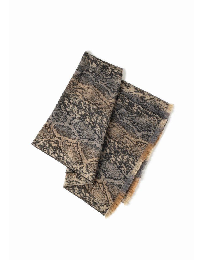 Look By M Two Tone Python Scarf