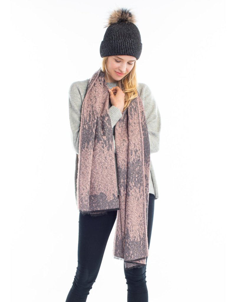 Look By M Blush Sparkled Burn Out Scarf