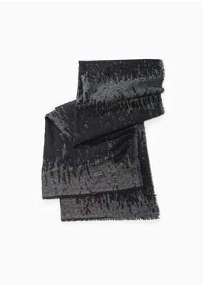 Look By M Black Sparkled Burn Out Scarf