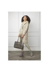 COCO + CARMEN Sade Faux Fur Beige Collar Cardigan L/XL